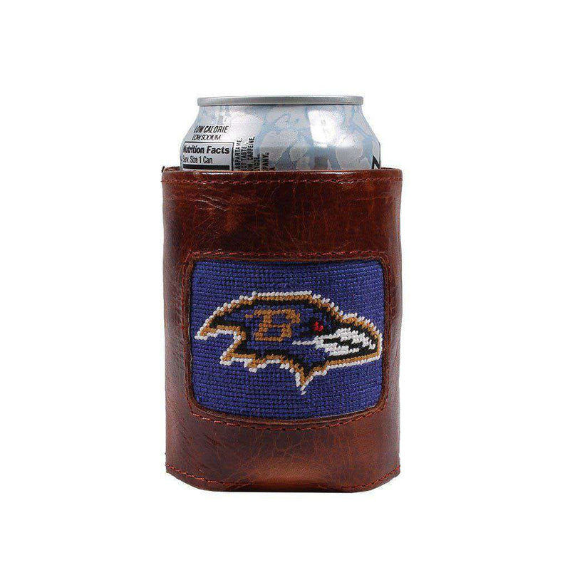 Can Holders - Baltimore Ravens Needlepoint Can Holder By Smathers & Branson