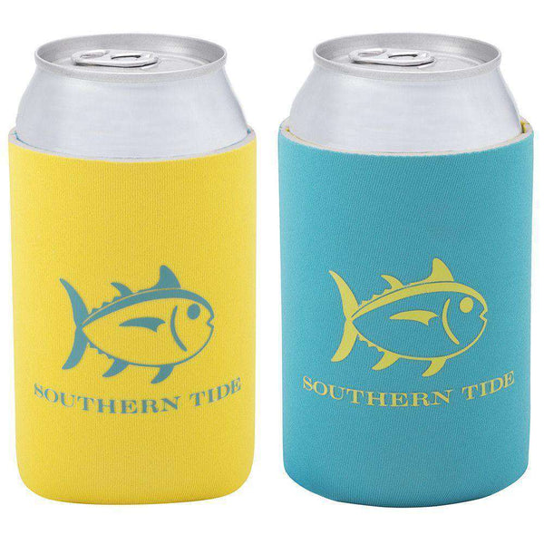 Can Holders - Batten Down REVERSIBLE Can Caddie In Sunset By Southern Tide