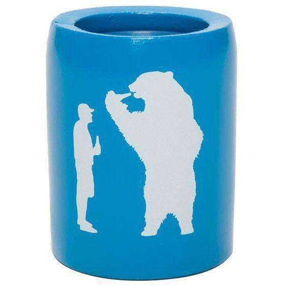 Can Holders - Beer With Bear Can Insulator In Bahama Blue By YETI