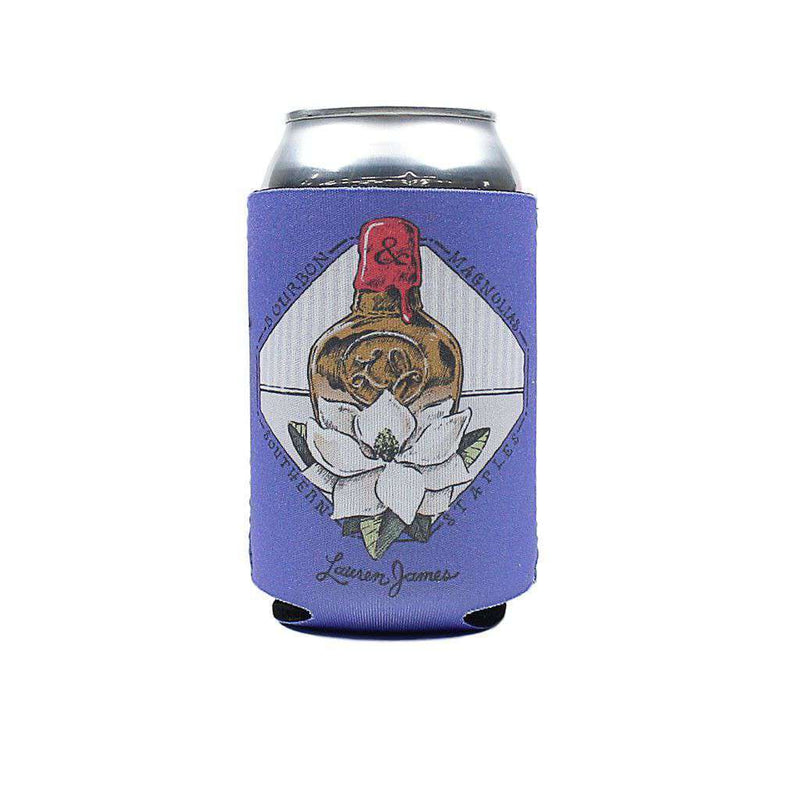 Can Holders - Bourbon And Magnolias Can Holder In Periwinkle By Lauren James - FINAL SALE