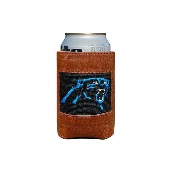 Can Holders - Carolina Panthers Needlepoint Can Holder By Smathers & Branson