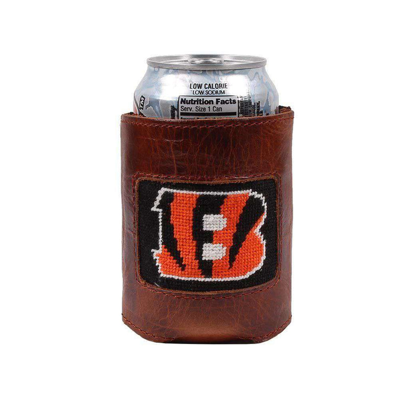 Cincinnati Bengals Needlepoint Can Holder by Smathers & Branson