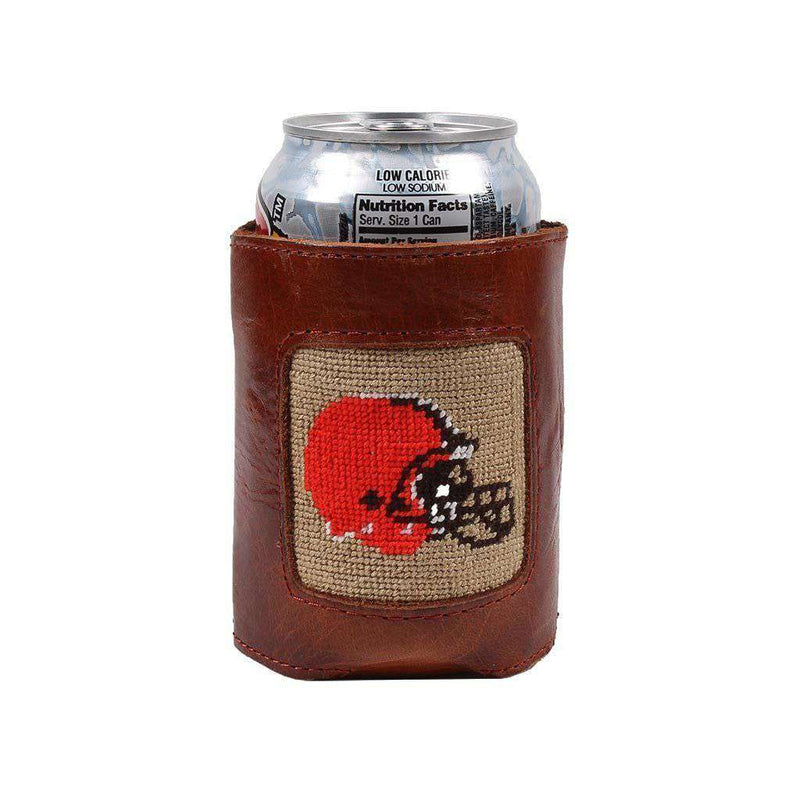 Cleveland Browns Needlepoint Can Holder by Smathers & Branson
