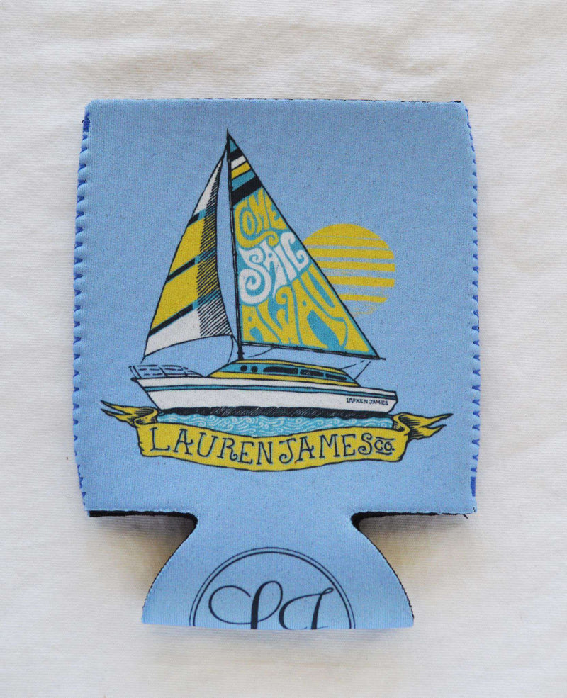 Can Holders - Come Sail Away Can Holder In Blue By Lauren James - FINAL SALE