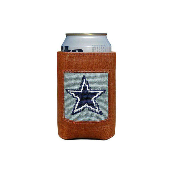 Can Holders - Dallas Cowboys Needlepoint Can Holder By Smathers & Branson