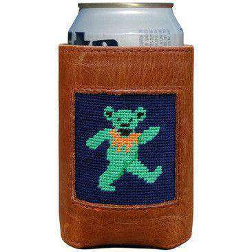 Can Holders - Dancing Bear Needlepoint Can Holder By Smathers & Branson