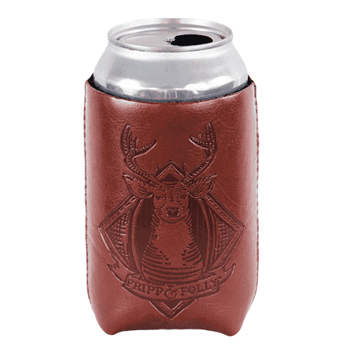 "Can Holders - Deerhead ""Vegan"" Leather/Neoprene Can Holder By Fripp & Folly"