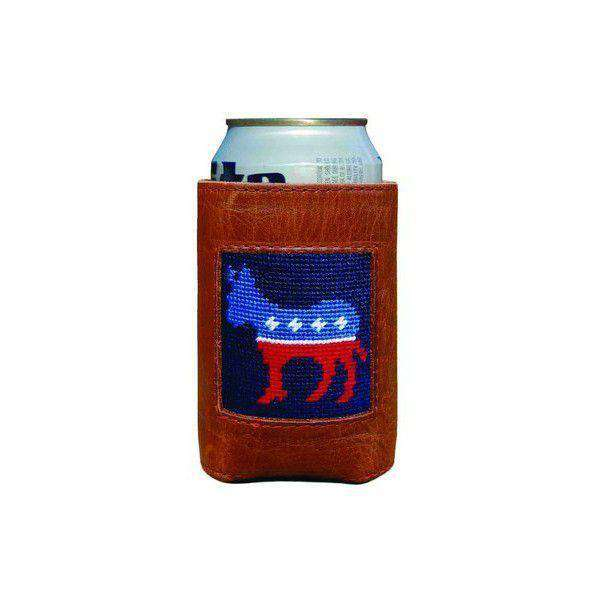 Can Holders - Democrat Needlepoint Can Holder By Smathers & Branson