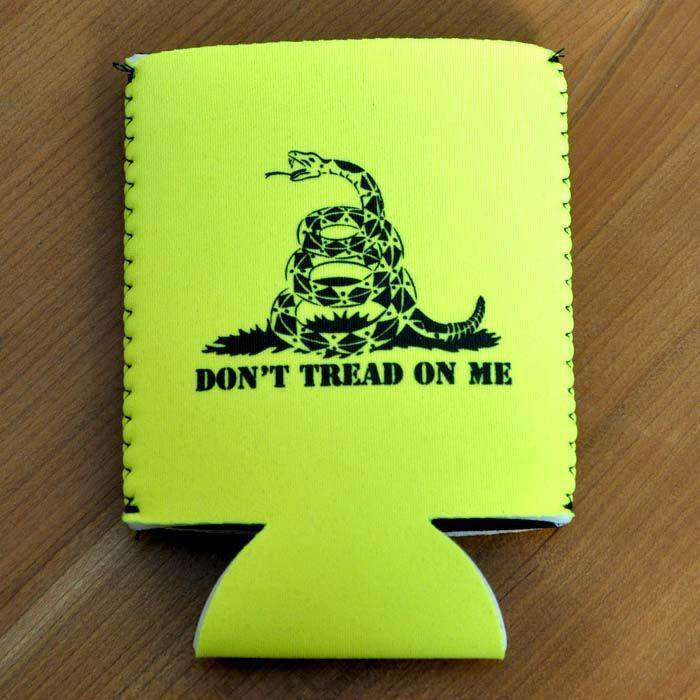 Don't Tread on Me Can Holder in Yellow by Rowdy Gentleman
