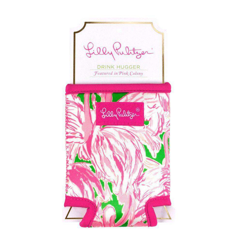 Can Holders - Drink Hugger In Pink Colony By Lilly Pulitzer - FINAL SALE
