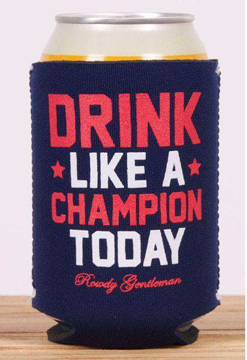 Can Holders - Drink Like A Champion Can Holder In Navy By Rowdy Gentleman