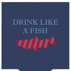Can Holders - Drink Like A Fish Can Holder In Navy By Southern Proper