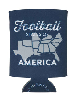 Can Holders - Football States Of America Can Holder In Navy By Southern Proper