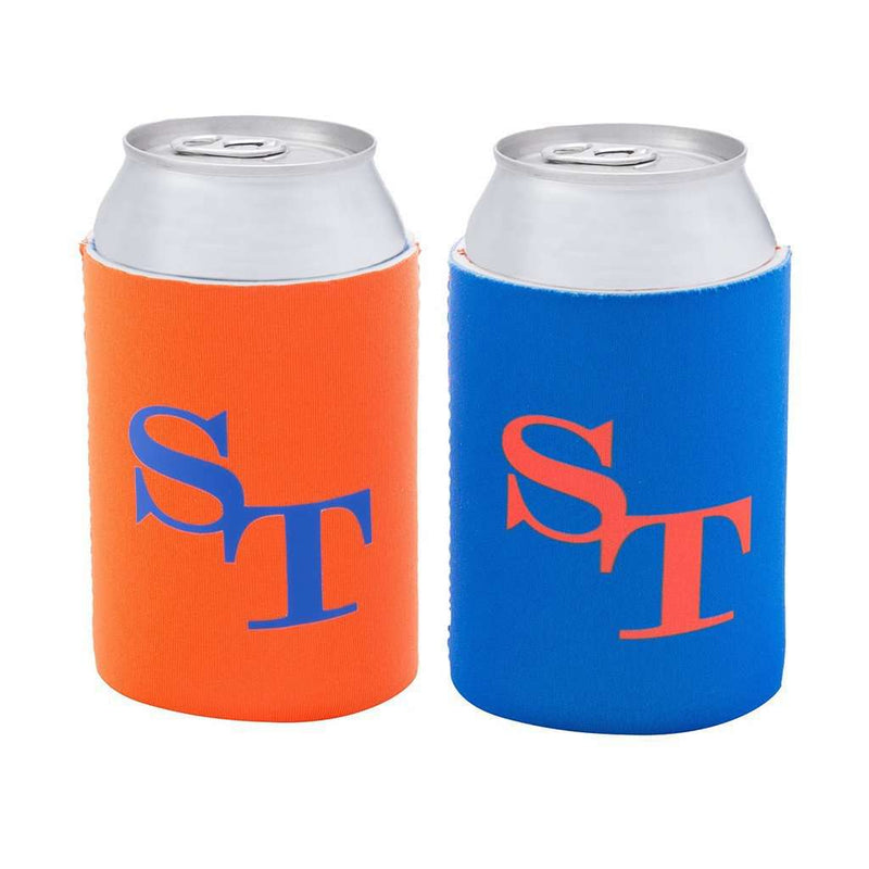 Gameday Reversible Can Caddie in University Blue and Endzone Orange by Southern Tide