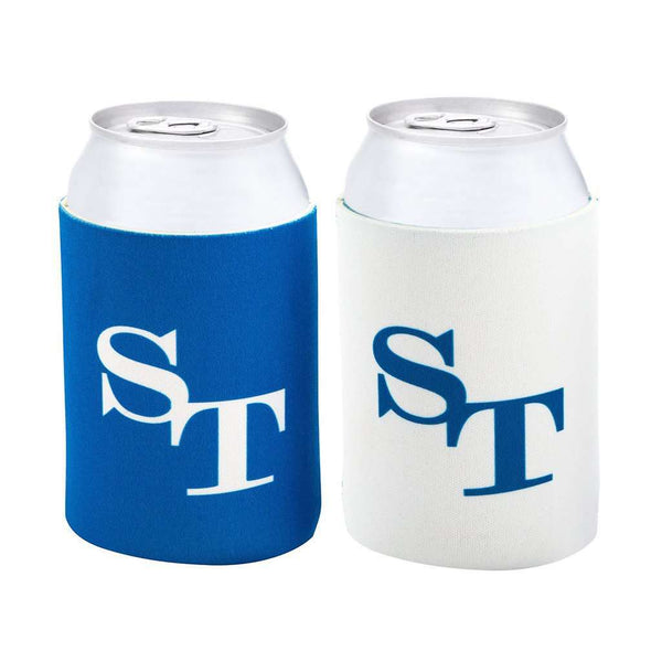 Can Holders - Gameday Reversible Can Caddie In University Blue And White By Southern Tide