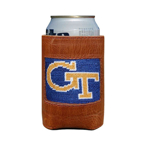 Can Holders - Georgia Tech Needlepoint Can Holder By Smathers & Branson