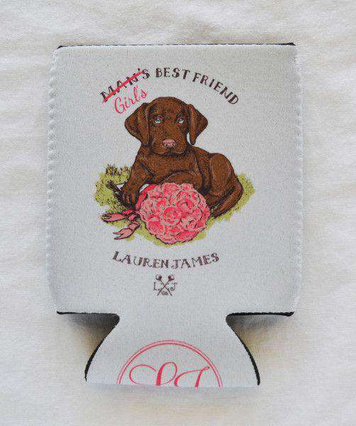 Can Holders - Girl's Best Friend Can Holder In White By Lauren James - FINAL SALE