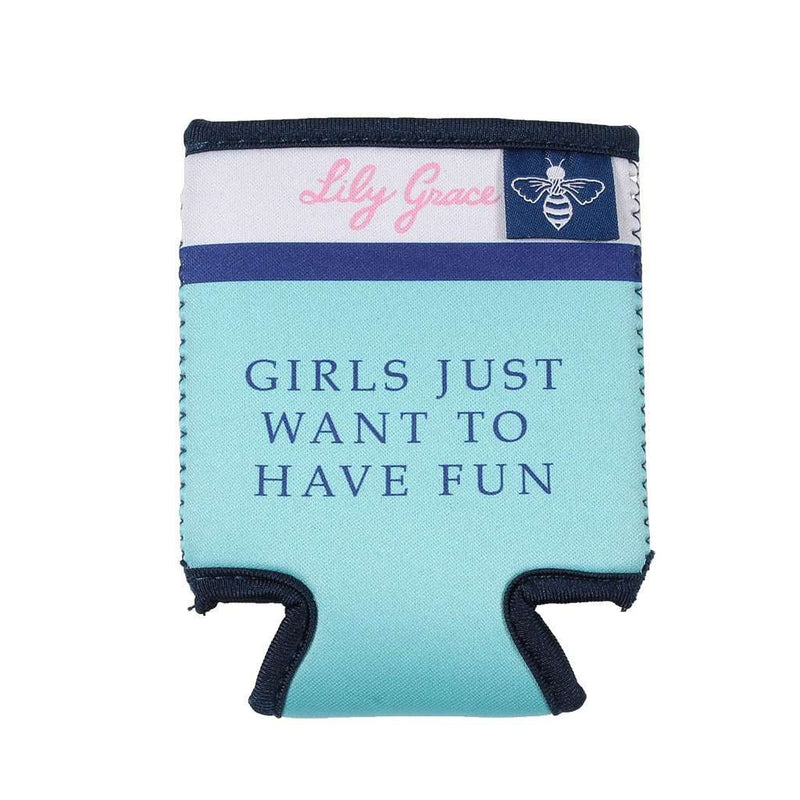Girls Just Want to Have Fun Can Holder by Lily Grace