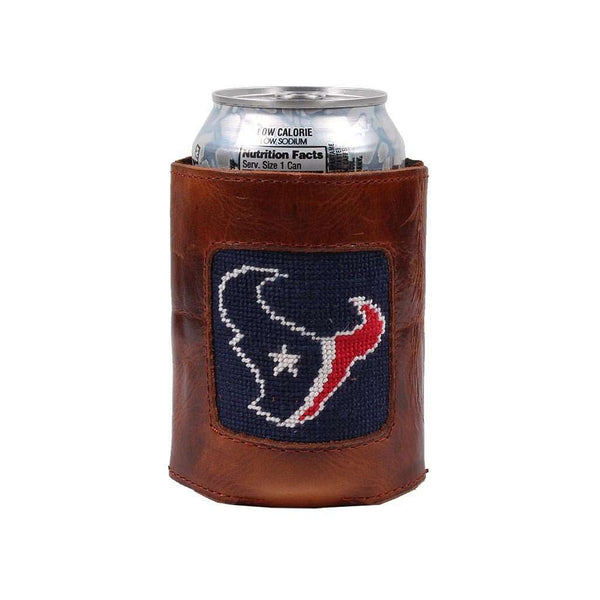 Houston Texans Needlepoint Can Holder by Smathers & Branson