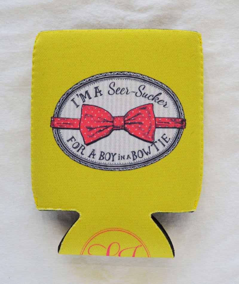 Can Holders - I'm A Seersucker Can Holder In Yellow By Lauren James - FINAL SALE