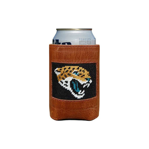 Can Holders - Jacksonville Jaguars Needlepoint Can Holder By Smathers & Branson