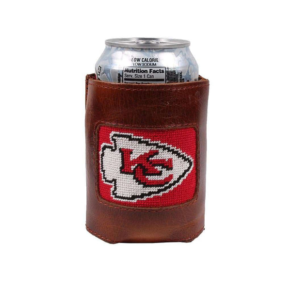 Can Holders - Kansas City Chiefs Needlepoint Can Holder By Smathers & Branson