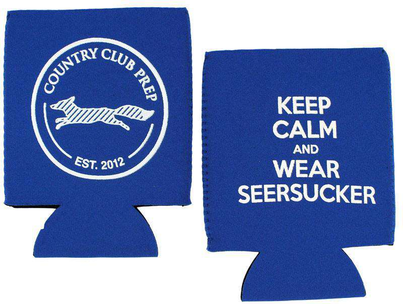 Keep Calm and Wear Seersucker Can Holder by Country Club Prep
