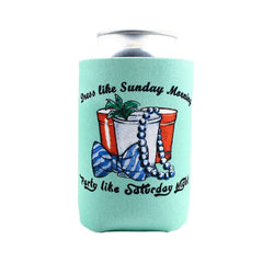 Can Holders - Life Advice Can Holder In Teal By Country Club Prep