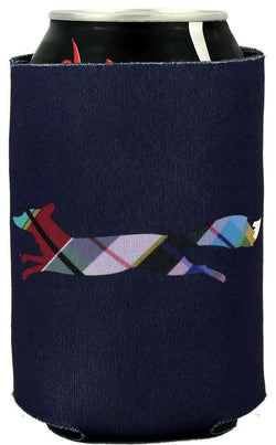 "Can Holders - Longshanks ""Always Be Prepared For Leisure"" Can Holder In Navy By Country Club Prep"