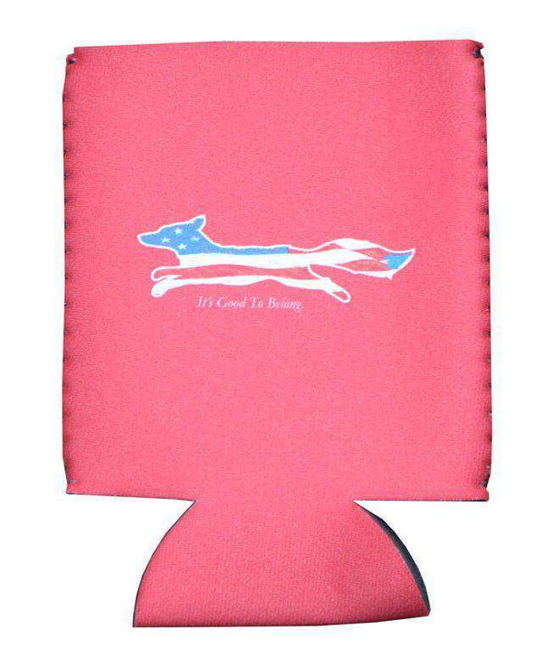 "Can Holders - ""Longshanks"" American Flag Can Holder In Red By Country Club Prep"