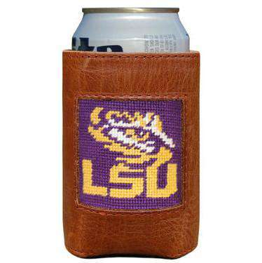 Can Holders - LSU Needlepoint Can Holder By Smathers & Branson