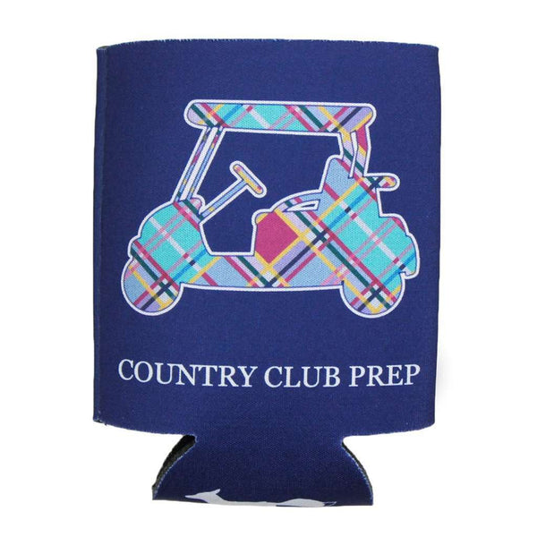 Can Holders - Madras Golf Cart Can Holder In Navy By Country Club Prep