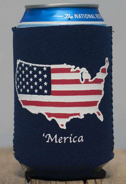 Can Holders - Merica Can Holder In Navy By Rowdy Gentleman