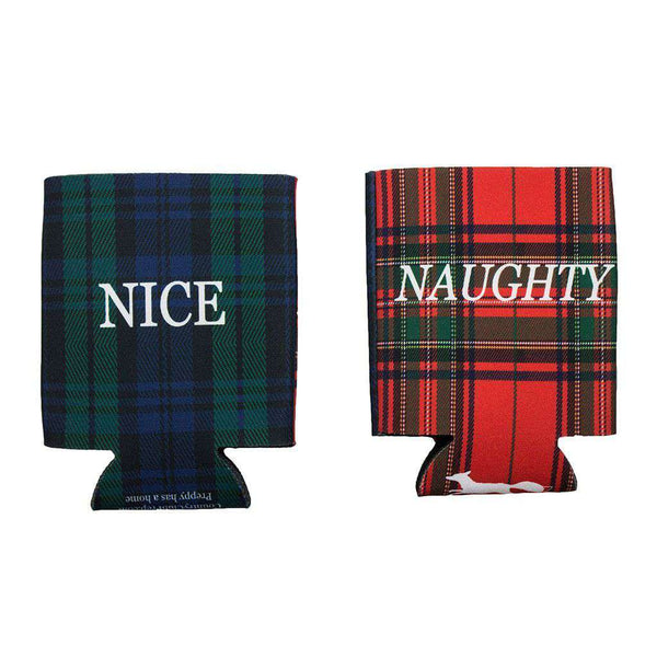 Can Holders - Naughty & Nice Can Holder In Royal Stewart Red & Blackwatch Green By Country Club Prep