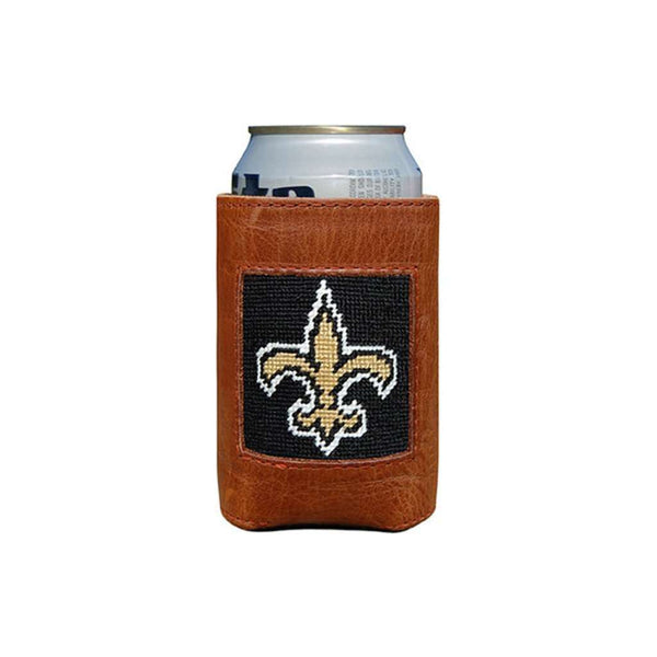 Can Holders - New Orleans Saints Needlepoint Can Holder By Smathers & Branson