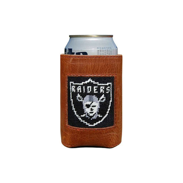 Can Holders - Oakland Raiders Needlepoint Can Holder By Smathers & Branson