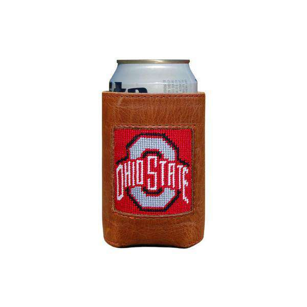 Can Holders - Ohio State University Needlepoint Can Holder In Red By Smathers & Branson