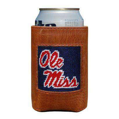 Ole Miss Needlepoint Can Holder by Smathers & Branson