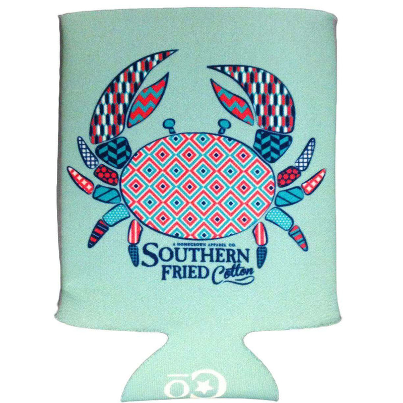 Pattern Crab Can Holder by Southern Fried Cotton