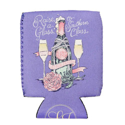 Can Holders - Raise A Glass Can Holder In Periwinkle By Lauren James - FINAL SALE