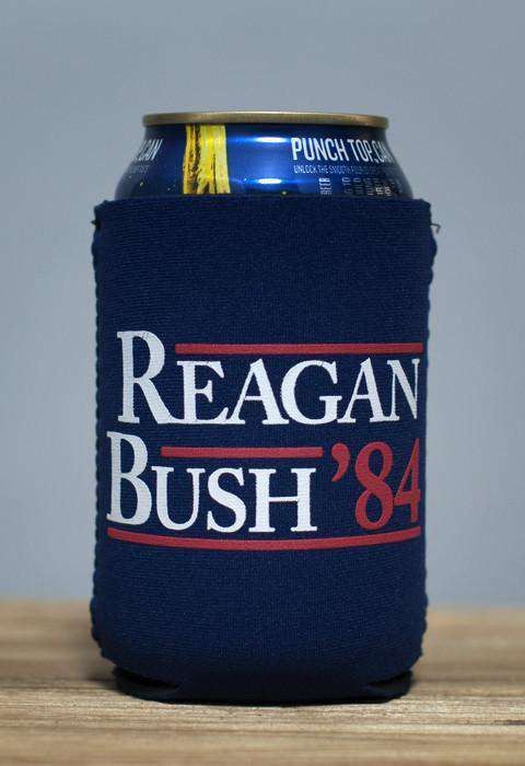 Can Holders - Reagan Bush '84 Can Holder In Navy By Rowdy Gentleman