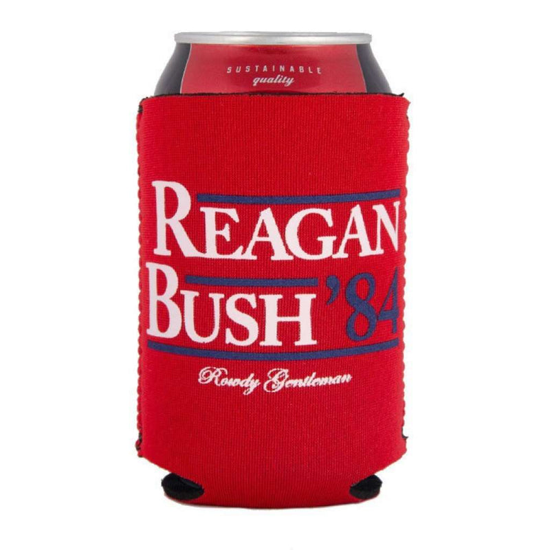 Can Holders - Reagan Bush '84 Can Holder In Red By Rowdy Gentleman