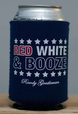 Can Holders - Red, White & Booze Can Holder In Navy By Rowdy Gentleman