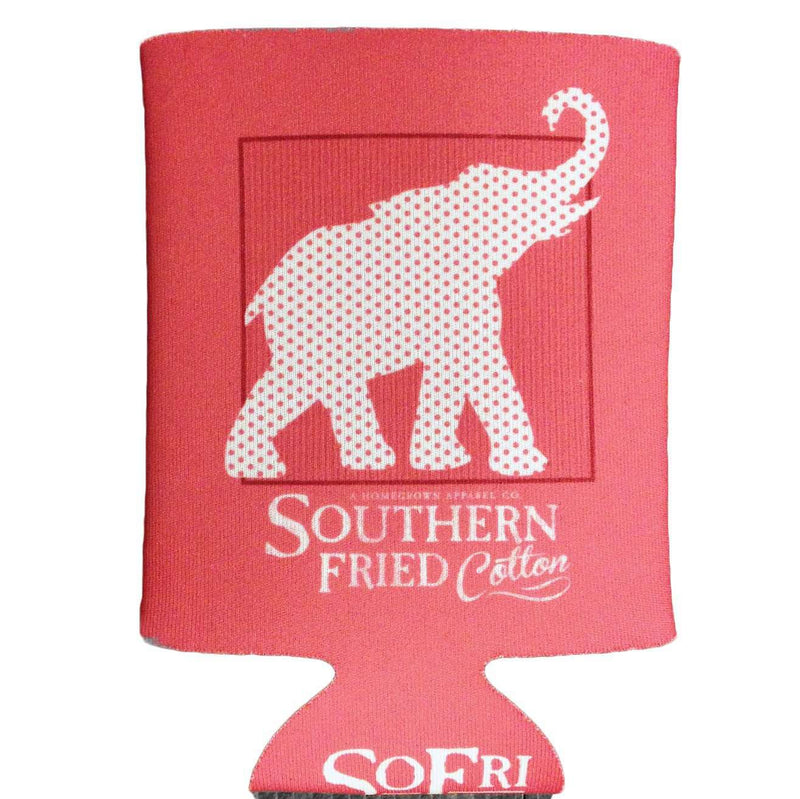 Red, White & Elephant Can Holder by Southern Fried Cotton