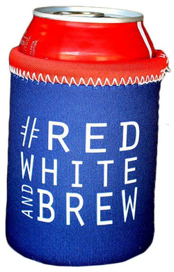 Can Holders - #RedWhiteandBrew Can Holder In Navy By Brewer's Lantern