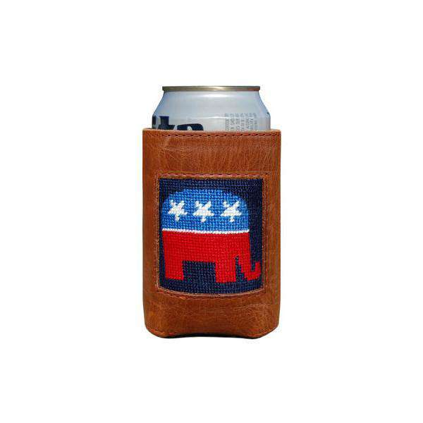 Can Holders - Republican Needlepoint Can Holder By Smathers & Branson