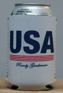 Can Holders - Retro USA Can Holder In White By Rowdy Gentleman