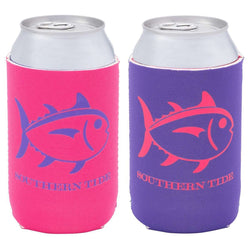 Can Holders - Reversible Can Caddie In Hot Pink/Purple By Southern Tide