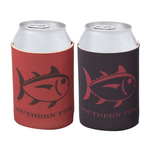 Can Holders - Reversible Gameday Can Caddie In Chianti/Black By Southern Tide