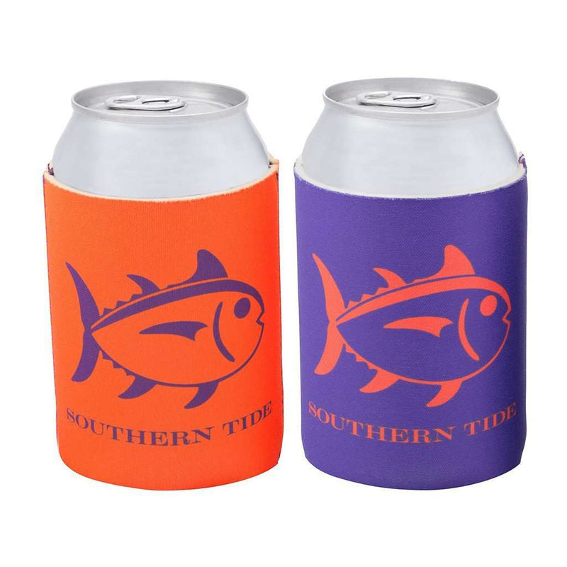 Can Holders - Reversible Gameday Can Caddie In Endzone Orange And Regal Purple By Southern Tide